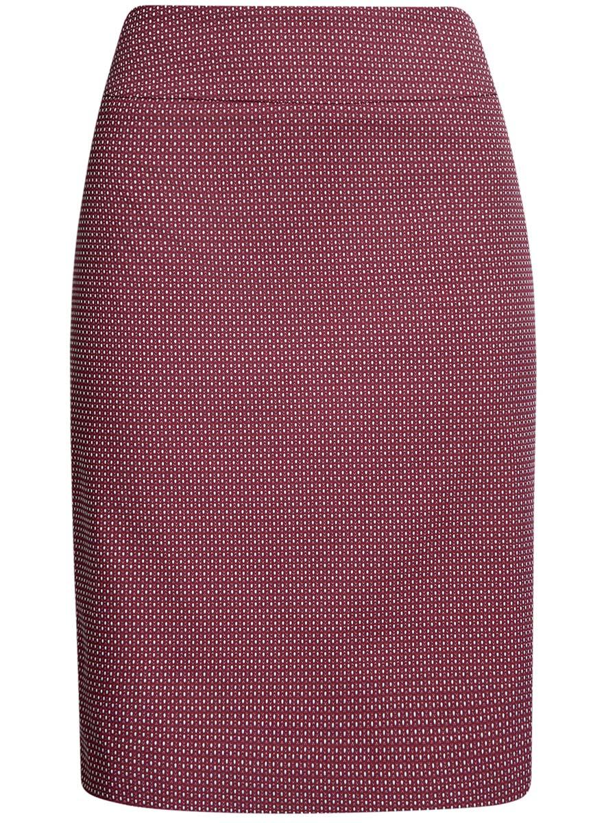 21601236-13/46373/3050DСтильная юбка oodji Collection выполнена из качественного комбинированного материала на подкладке из полиэстера. Модель- миди застегивается сзади на потайную молнию. Оформлена юбка мелким принтом в горох. Сзади изделие имеет небольшую шлицу.