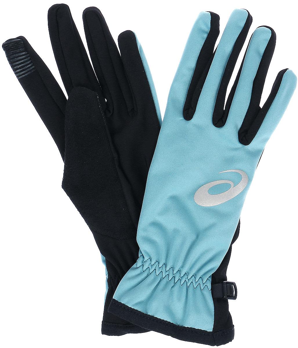 Перчатки134926-0904Спортивные перчатки для бега Asics выполнены из полиэстера и эластана. Снаружи модель оформлена принтом с изображением логотипа бренда. Перчатки дополнены эластичными резинками, которые надежно зафиксируют модель на запястье, не сдавливая его. Также перчатки оснащены застежкой-фастексом.