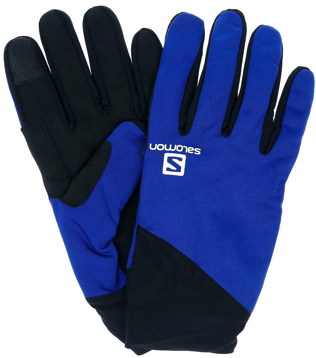 ПерчаткиL39011500Перчатки Salomon Discovery Glove M выполнены из полиэстера, эластана и нейлона. Модель оформлена фирменным принтом и прострочкой. Перчатки позволяют пользоваться устройствами Touch Screen. Внутренняя поверхность выполнена из утепленных материалов. Эластичные манжеты надежно зафиксируют запястье, не сдавливая его.