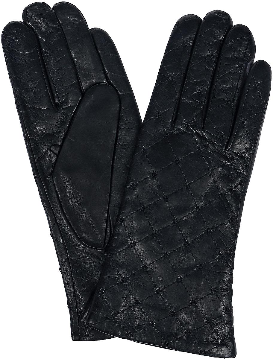Перчатки11_STORRY/BlЖенские перчатки Dali Exclusive не только защитят ваши руки, но и станут великолепным украшением. Перчатки выполнены из натуральной кожи, а подкладка - из высококачественной шерсти. Модель оформлена декоративной прострочкой.