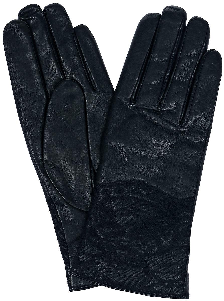 Перчатки11_LACE/BLЖенские перчатки Dali Exclusive не только защитят ваши руки, но и станут великолепным украшением. Перчатки выполнены из натуральной кожи, а их подкладка - из высококачественной шерсти. Модель оформлена кружевом.