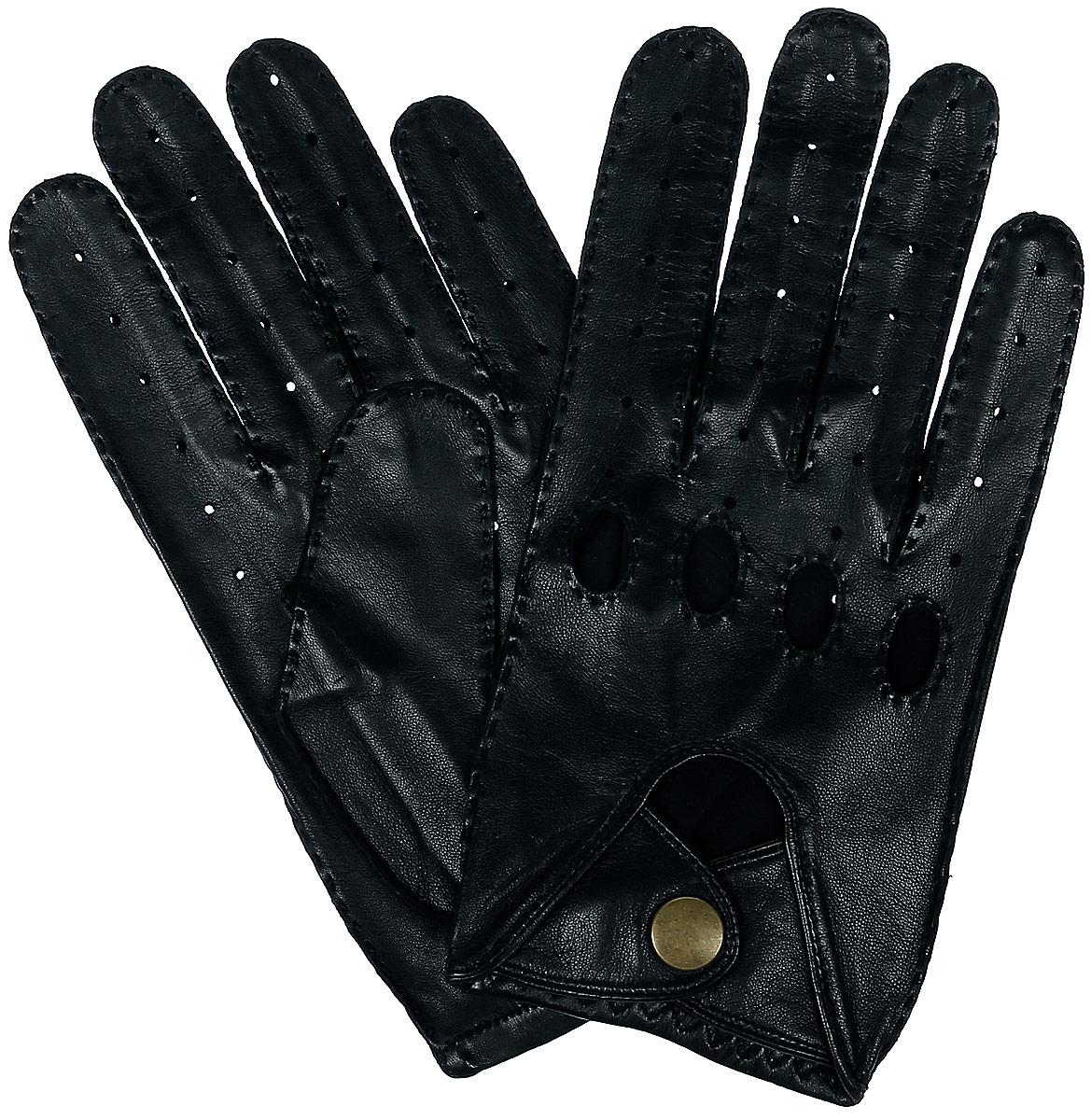 Автомобильные перчаткиALM1/BL//11Стильные автомобильные перчатки позволяют сделать управление автомобилем максимально комфортным и безопасным. Изготовлены перчатки из натуральной кожи и дополнены с внешней стороны хлястиком на кнопке. Летом в перчатках комфортно благодаря специальным вентиляционным отверстиям и перфорации, зимой - холодный руль больше не доставит неудобств.