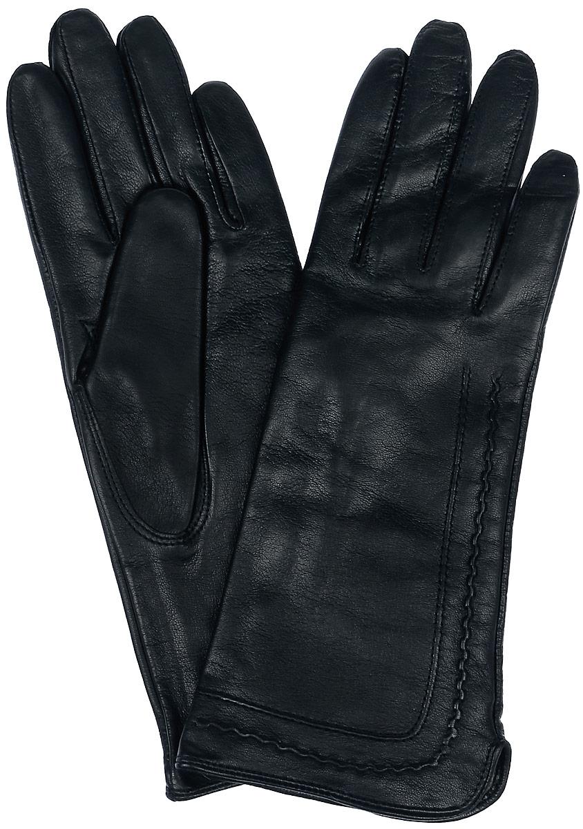 ПерчаткиHP09301-shСтильные перчатки Eleganzza выполнены из натуральной гладкой кожи и оформлены декоративной прострочкой. Внутренняя поверхность выполнена из шерсти и кашемира, которые обеспечат тепло и комфорт.