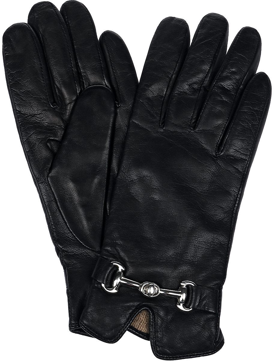 Перчатки11_CHEA/BLЖенские перчатки Dali Exclusive не только защитят ваши руки, но и станут великолепным украшением. Перчатки выполнены из натуральной кожи, а их подкладка - из высококачественной шерсти. Модель оформлена декоративным элементом.