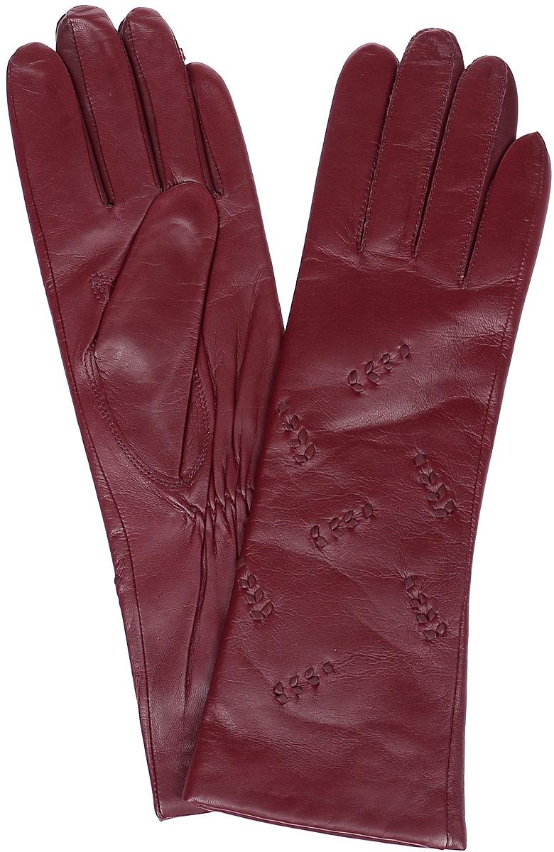 ПерчаткиLB-0192Стильные женские перчатки Labbra выполнены из натуральной мягкой кожи. Удлиненная модель оформлена декоративными нашивками. Перчатки дополнены эластичными резинками, которые надежно зафиксируют модель на запястье, не сдавливая его. Внутренняя поверхность выполнена из шерсти и акрила, которые обеспечат тепло и комфорт.