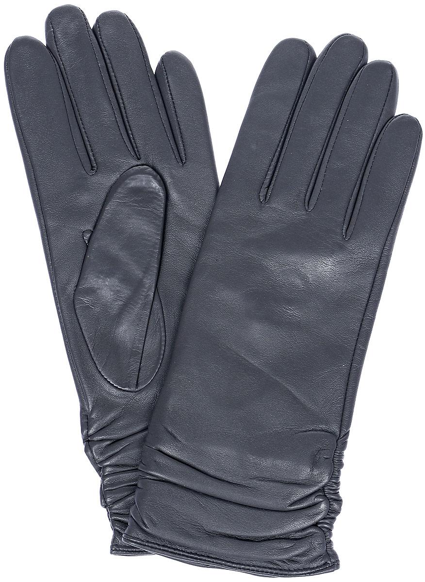 ПерчаткиLB-8228Стильные женские перчатки Labbra выполнены из натуральной кожи и дополнены декоративными эластичными резинками на запястье. Внутренняя поверхность выполнена из шерсти и акрила, которые обеспечат тепло и комфорт.