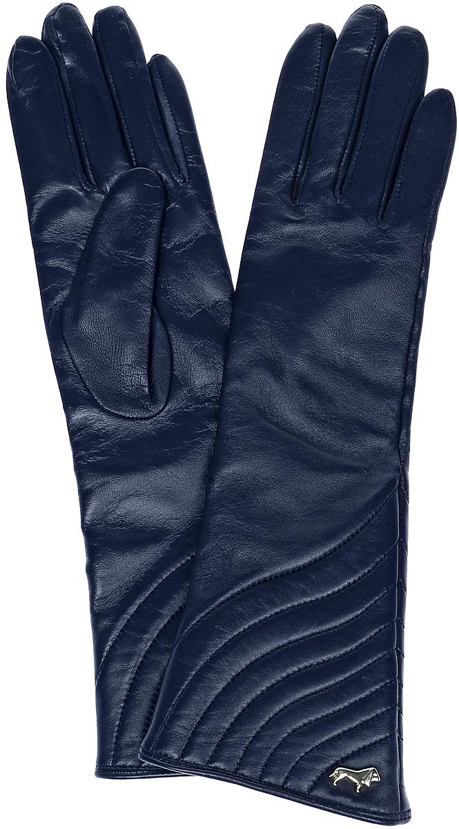 LB-0308Стильные женские перчатки Labbra выполнены из натуральной мягкой кожи. Удлиненная модель оформлена декоративной прострочкой и металлической пластинкой с логотипом бренда. Внутренняя поверхность выполнена из шерсти и акрила, которые обеспечат тепло и комфорт.