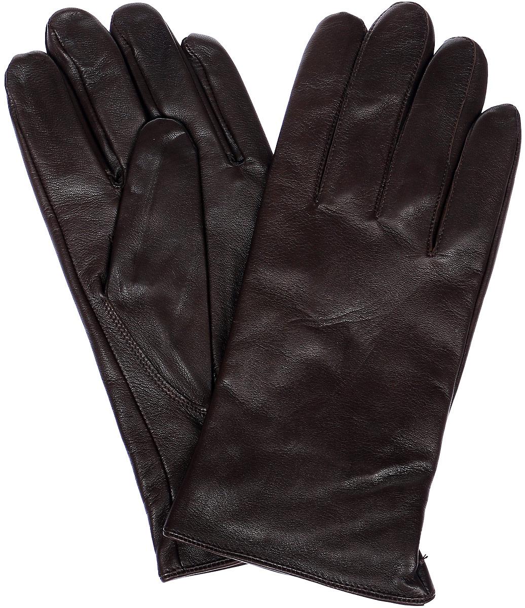 ПерчаткиHP68980Мужские перчатки Eleganzza выполнены из натуральной гладкой кожи и дополнены сборкой, которая надежно зафиксирует модель на запястье. Внутренняя поверхность выполнена из шерсти и кашемира, которые обеспечат тепло и комфорт.