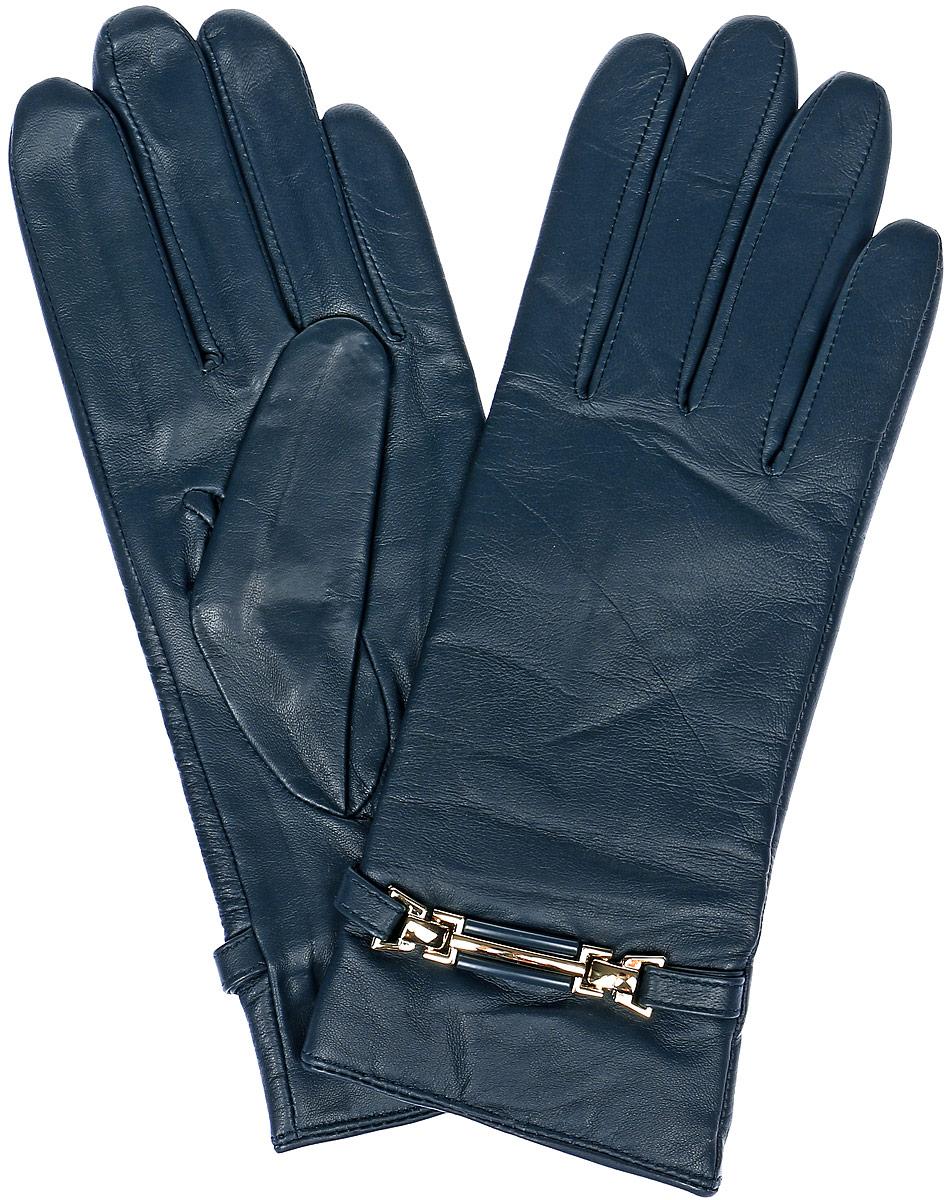 ПерчаткиLB-0306Стильные женские перчатки Labbra выполнены из натуральной кожи и дополнены эластичными резинками, которые надежно зафиксируют модель на запястье. Модель оформлена декоративным ремешком с металлическими вставками. Внутренняя поверхность выполнена из шерсти и акрила, которые обеспечат тепло и комфорт.