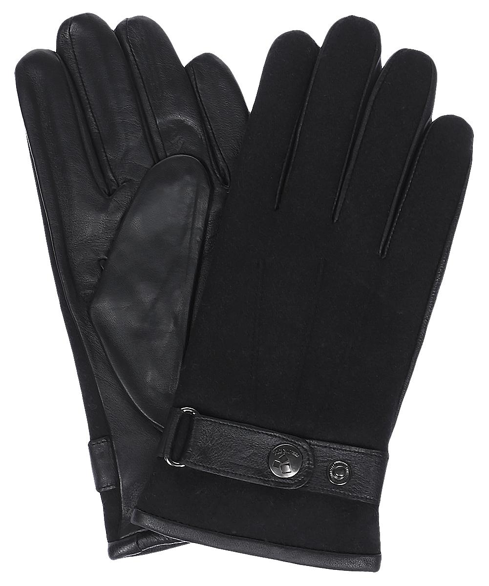 ПерчаткиIS909Мужские перчатки Eleganzza выполнены из натуральной гладкой кожи и дополнены сборкой. Модель оснащена ремешком с кнопками, который надежно зафиксирует модель на запястье. Внутренняя поверхность выполнена из шерсти, обеспечивающей тепло и комфорт.