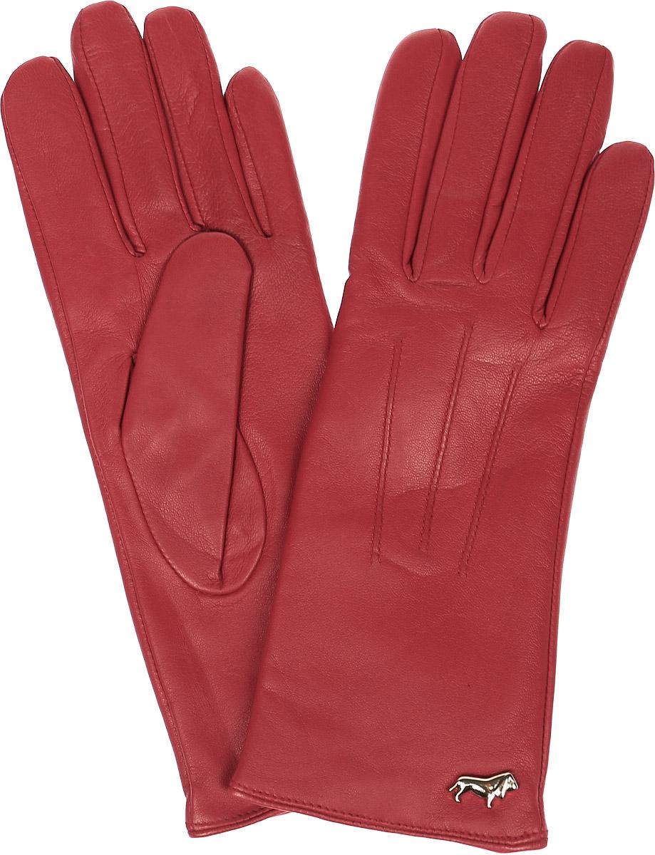 ПерчаткиLB-4607Перчатки женские Labbra выполнены из натуральной гладкой кожи. Модель оформлена декоративной прострочкой и металлической пластинкой с логотипом бренда. Внутренняя поверхность выполнена из шерсти и акрила, которые обеспечат тепло и комфорт.