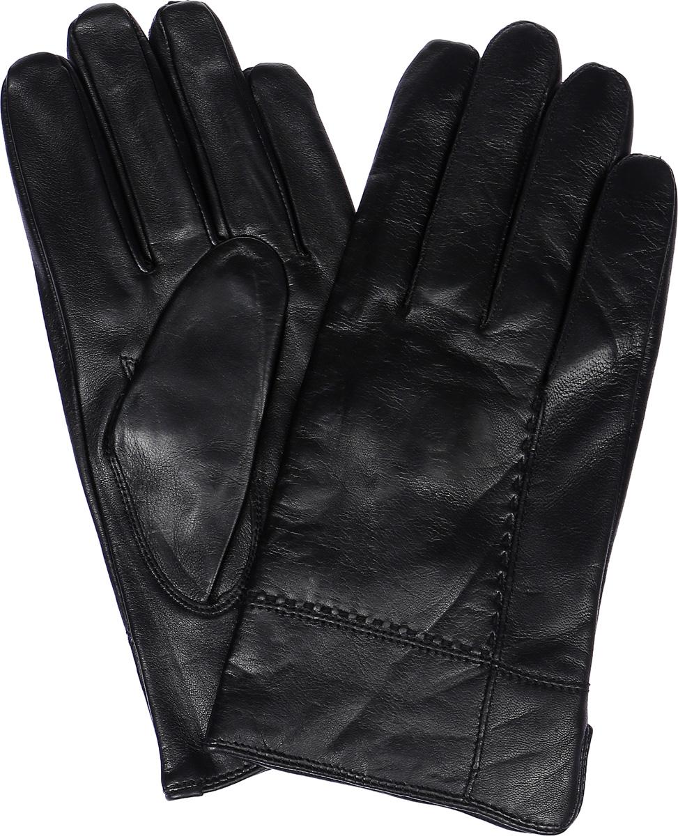 ПерчаткиLB-5473Стильные мужские перчатки Labbra выполнены из натуральной кожи. Внутренняя поверхность модели изготовлена из шерсти и акрила, которые обеспечивают тепло и комфорт. Оформлены перчатки на лицевой стороне декоративными швами и сбоку небольшим разрезом.