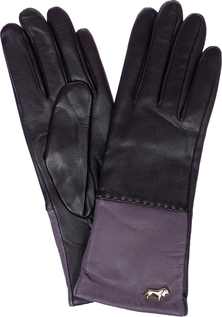 ПерчаткиLB-7777Женские перчатки Labbra выполнены из натуральной кожи ягненка. Они мягкие, максимально сохраняют тепло, идеально сидят на руке. Подкладка изделия изготовлена из натуральной шерсти с добавлением акрила. Лицевая сторона изделия дополнена декоративным элементом в виде логотипа бренда. На запястье модель присборена на резинку.