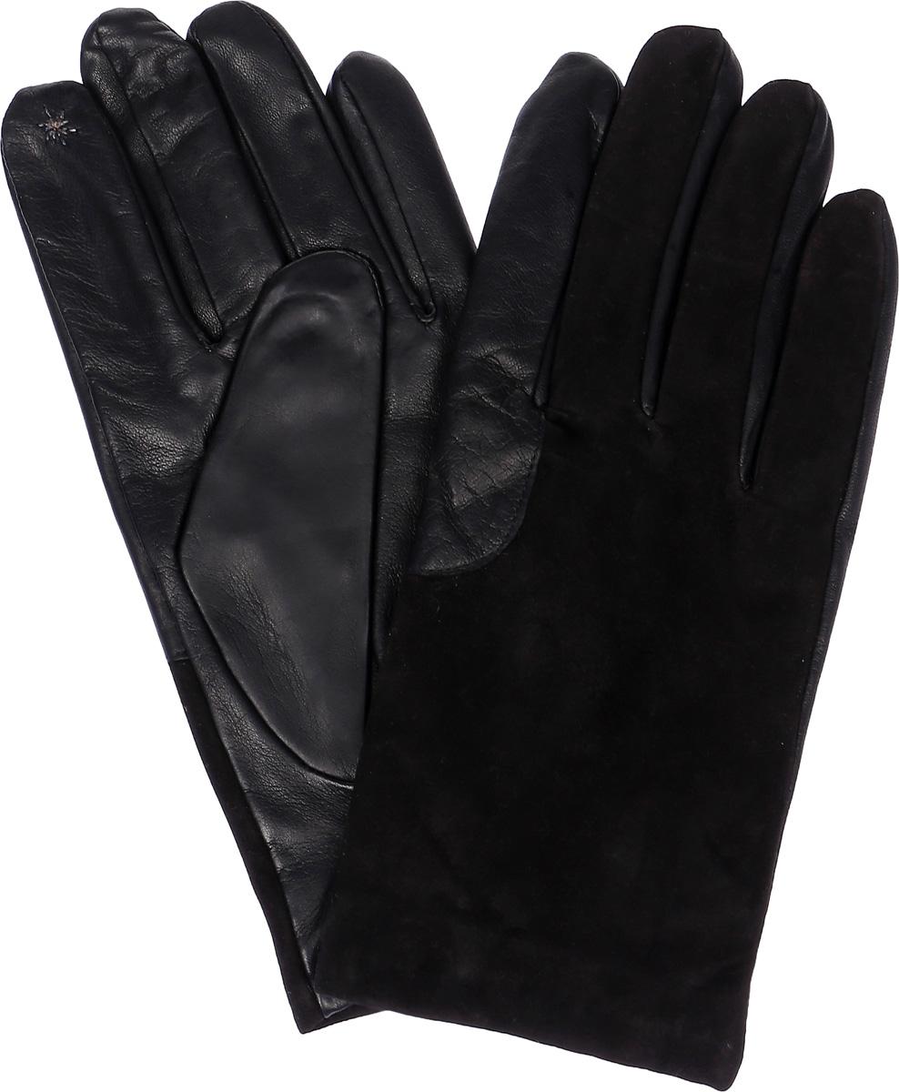ПерчаткиTOUCH IS90530Стильные мужские перчатки Eleganzza выполнены из качественной кожи, а тыльная сторона изделия на 3/4 из натурального велюра. Внутренняя поверхность модели изготовлена из шерсти и кашемира, которые обеспечивают тепло и комфорт. На пальцах перчатки оформлены металлизированной нитью, которая позволяет работать с сенсорным экраном. На ладонной стороне дополнены резинкой.