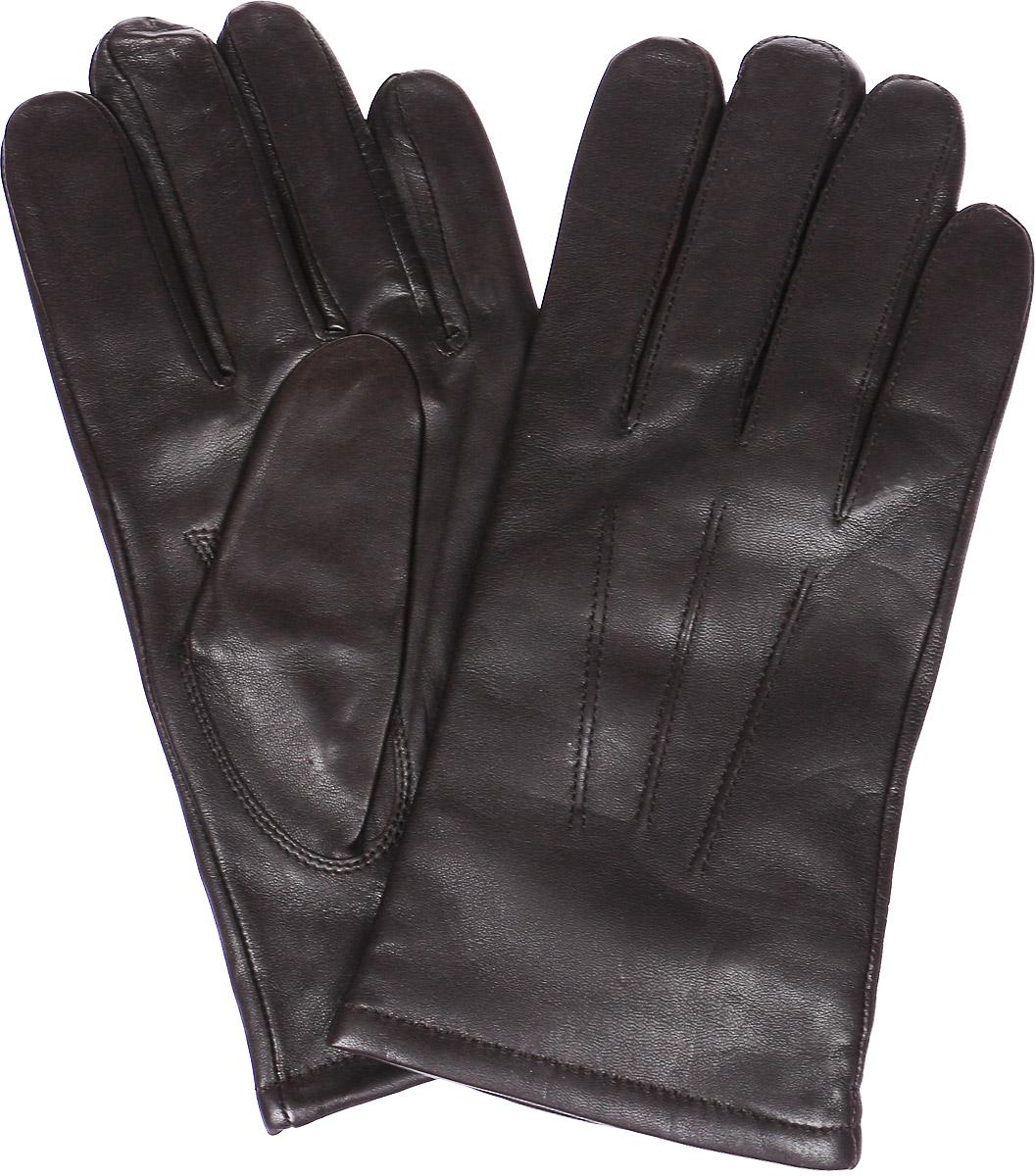 LB-6008Стильные мужские перчатки Labbra выполнены из натуральной кожи. Внутренняя поверхность модели изготовлена из шерсти и акрила, которые обеспечат тепло и комфорт. Оформлены перчатки на лицевой стороне декоративными швами три луча. На ладонной стороне дополнены резинкой.