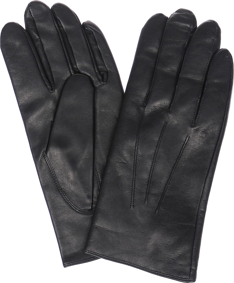 ПерчаткиHP96000Стильные мужские перчатки Eleganzza выполнены из натуральной кожи. Внутренняя поверхность модели изготовлена из шерсти и кашемира, которые обеспечивают тепло и комфорт. На ладонной стороне дополнены небольшим разрезом, а внешняя сторона оформлена декоративными швами три луча.