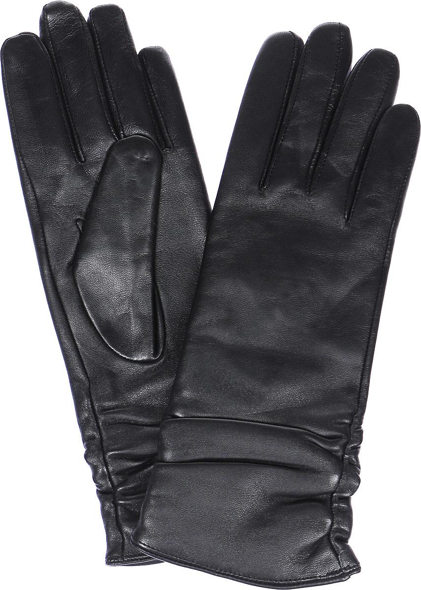 LB-8228Стильные женские перчатки Labbra выполнены из натуральной кожи и дополнены декоративными эластичными резинками на запястье. Внутренняя поверхность выполнена из шерсти и акрила, которые обеспечат тепло и комфорт.