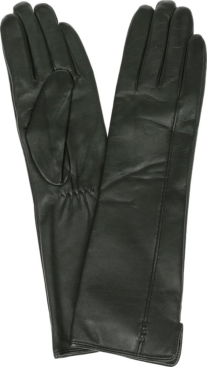 ПерчаткиLB-0195Стильные женские перчатки Labbra выполнены из натуральной кожи и дополнены эластичными резинками, которые надежно зафиксируют модель на запястье. Удлиненная модель оформлена декоративной прострочкой. Внутренняя поверхность выполнена из шерсти и акрила, которые обеспечат тепло и комфорт.