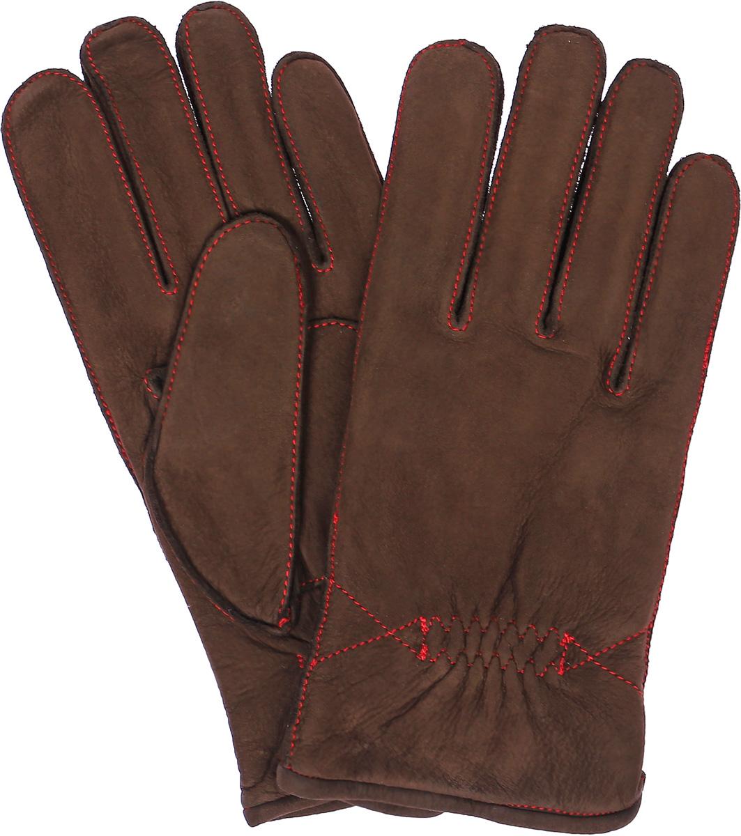 ПерчаткиN12_TORM/R.DBR//11Мужские перчатки Dali Exclusive не только защитят ваши руки, но и станут великолепным украшением. Перчатки выполнены из натурального нубука, а подкладка - из высококачественной шерсти. Модель оформлена декоративными прострочками.