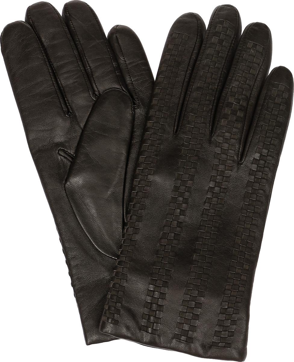 Перчатки11_ARAMER/BR//11Мужские перчатки Dali Exclusive не только защитят ваши руки, но и станут великолепным украшением. Перчатки выполнены из натуральной кожи, а подкладка - из высококачественной шерсти. Модель оформлена декоративным узором.