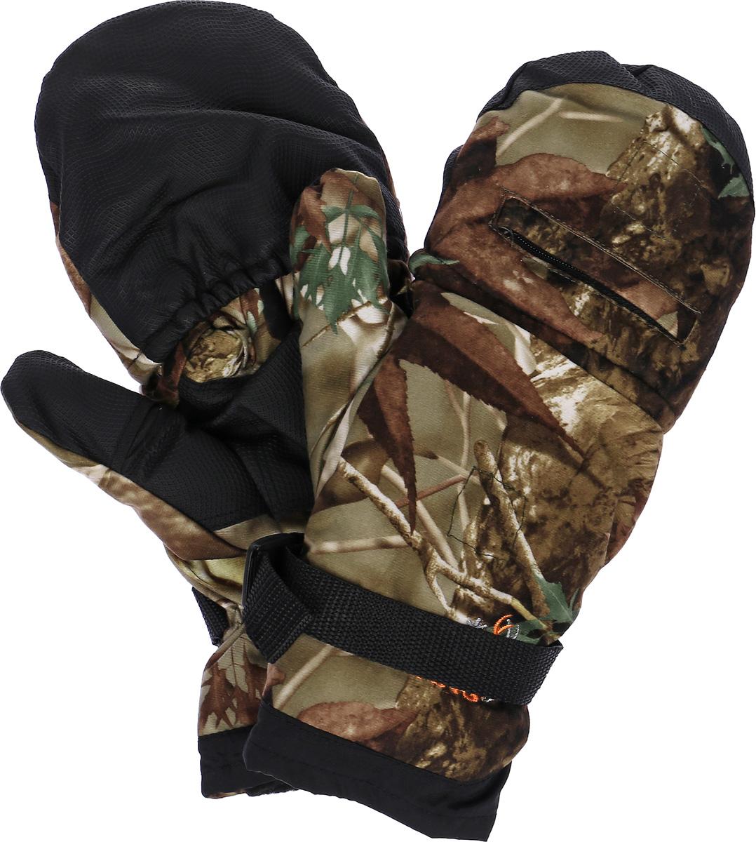 Варежки761-PПерчатки-варежки Norfin защитят ваши руки. Они хорошо сохраняют тепло, мягкие, идеально сидят на руке. Перчатки-варежки в области ладони и с внутренней стороны большого пальца выполнены из водоотталкивающего материала, внутри выполнены из флиса. Изделие представляет собой перчатки без пальцев, к внешней стороне которых крепится капюшон, накинув его на пальцы, перчатки превращаются в варежки. На запястье имеется эластичная вставка.