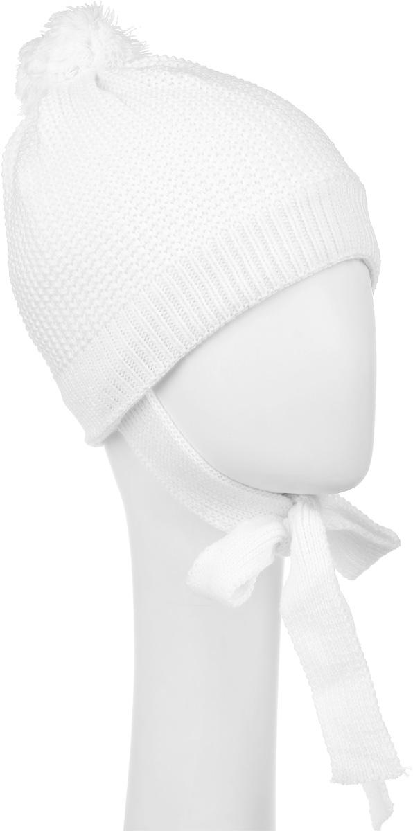 Шапка детская362133Уютная вязаная шапочка для девочки PlayToday выполнена из натурального акрила. Шапка дополнена помпоном на макушке и завязками, которые фиксируются под подбородком. Внутри уютная флисовая подкладка. Модель оформлена декоративной несъемной брошкой в виде цветка. Уважаемые клиенты! Размер, доступный для заказа, является обхватом головы.