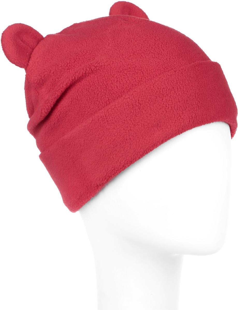 Шапка детская216BBGA73011600Стильная шапка для девочки Button Blue выполнена из 100% полиэстера. Шапка с отворотом декорирована ушками. Уважаемые клиенты! Размер, доступный для заказа, является обхватом головы ребенка.