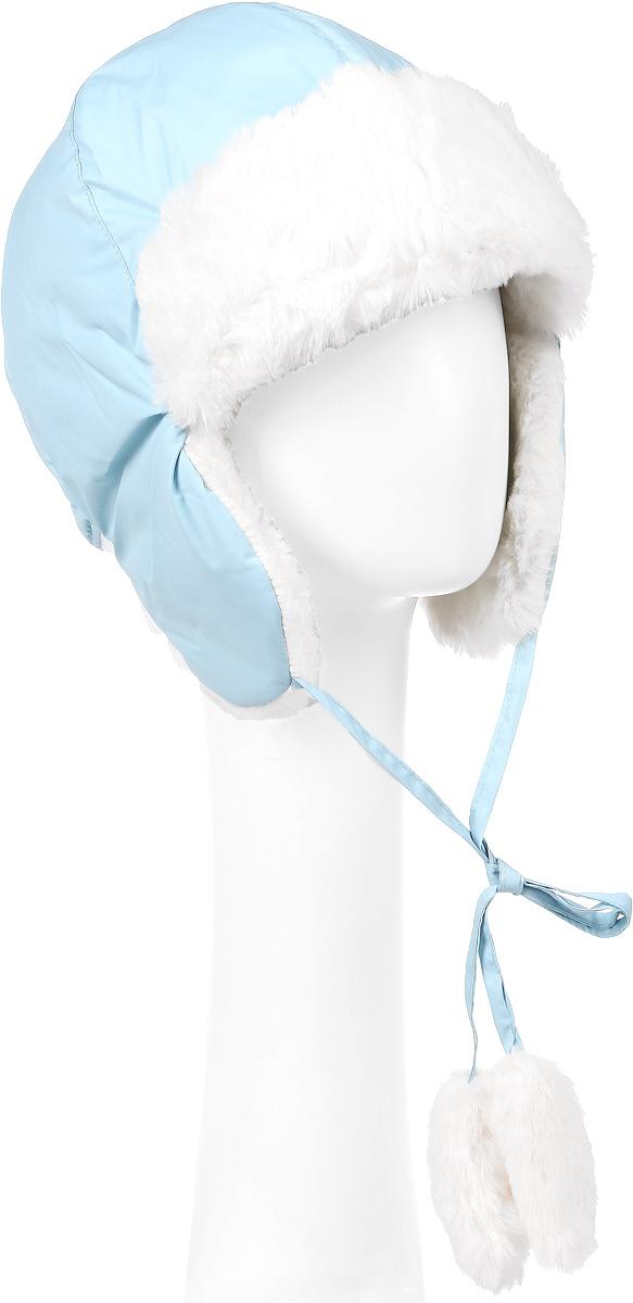 Шапка детская362131Утепленная шапка-ушанка для девочки PlayToday Sports выполнена из высококачественного полиэстера, подкладка - мягкий флис. Модель имеет небольшие ушки с завязками, на концах которых расположены помпоны из искусственного меха. Сзади расположена трикотажная резинка, обеспечивающая удобную посадку. Уважаемые клиенты! Обращаем ваше внимание на тот факт, что размер, доступный для заказа, является обхватом головы.