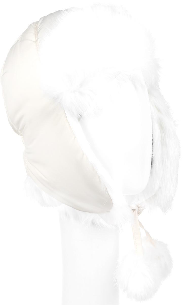 Шапка детская21602GMC7304Утепленная шапка-ушанка для девочки Gulliver выполнена из высококачественного полиэстера и имеет наполнитель из синтепона. Подкладка выполнена из мягкого флиса. Модель имеет вставки из натурального кроличьего меха. Ушки шапки фиксируются при помощи завязок. Уважаемые клиенты! Обращаем ваше внимание на тот факт, что размер, доступный для заказа, является обхватом головы.