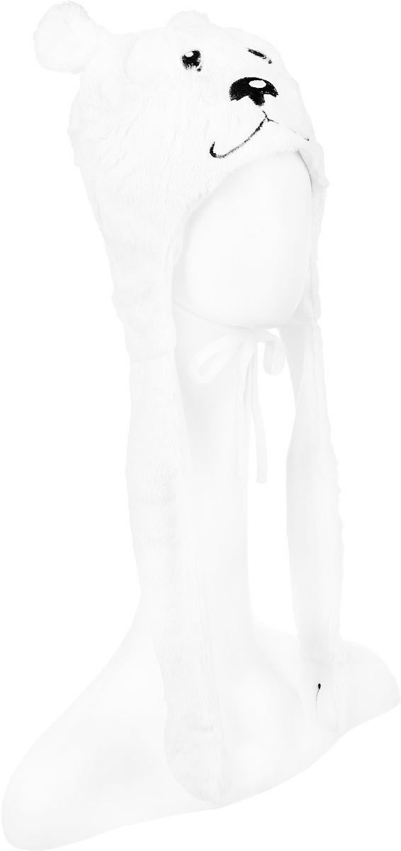 362135Шапка для девочки PlayToday изготовлена из искусственного меха и имеет подкладку из мягкого флиса. Модель выполнена в виде мордочки медвежонка и дополнена декоративными лентами-ушками с лапками на концах. Шапка оснащена завязками. Уважаемые клиенты! Обращаем ваше внимание на тот факт, что размер, доступный для заказа, является обхватом головы.