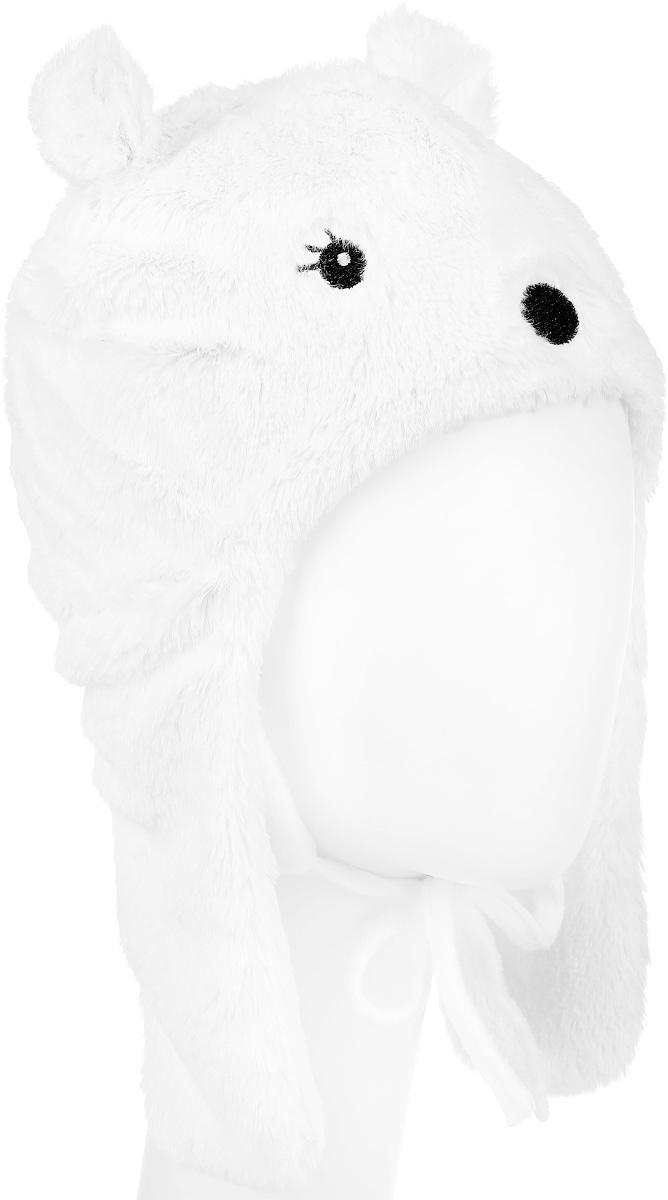 Шапка детская368081Шапка для девочки PlayToday Baby изготовлена из искусственного меха и имеет подкладку из мягкого флиса. Модель выполнена в виде мордочки медвежонка и дополнена небольшими ушками с завязками. Уважаемые клиенты! Обращаем ваше внимание на тот факт, что размер, доступный для заказа, является обхватом головы.