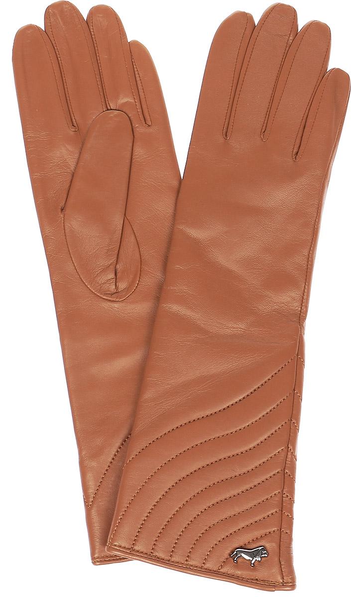 ПерчаткиLB-0308Стильные женские перчатки Labbra выполнены из натуральной мягкой кожи. Удлиненная модель оформлена декоративной прострочкой и металлической пластинкой с логотипом бренда. Внутренняя поверхность выполнена из шерсти и акрила, которые обеспечат тепло и комфорт.