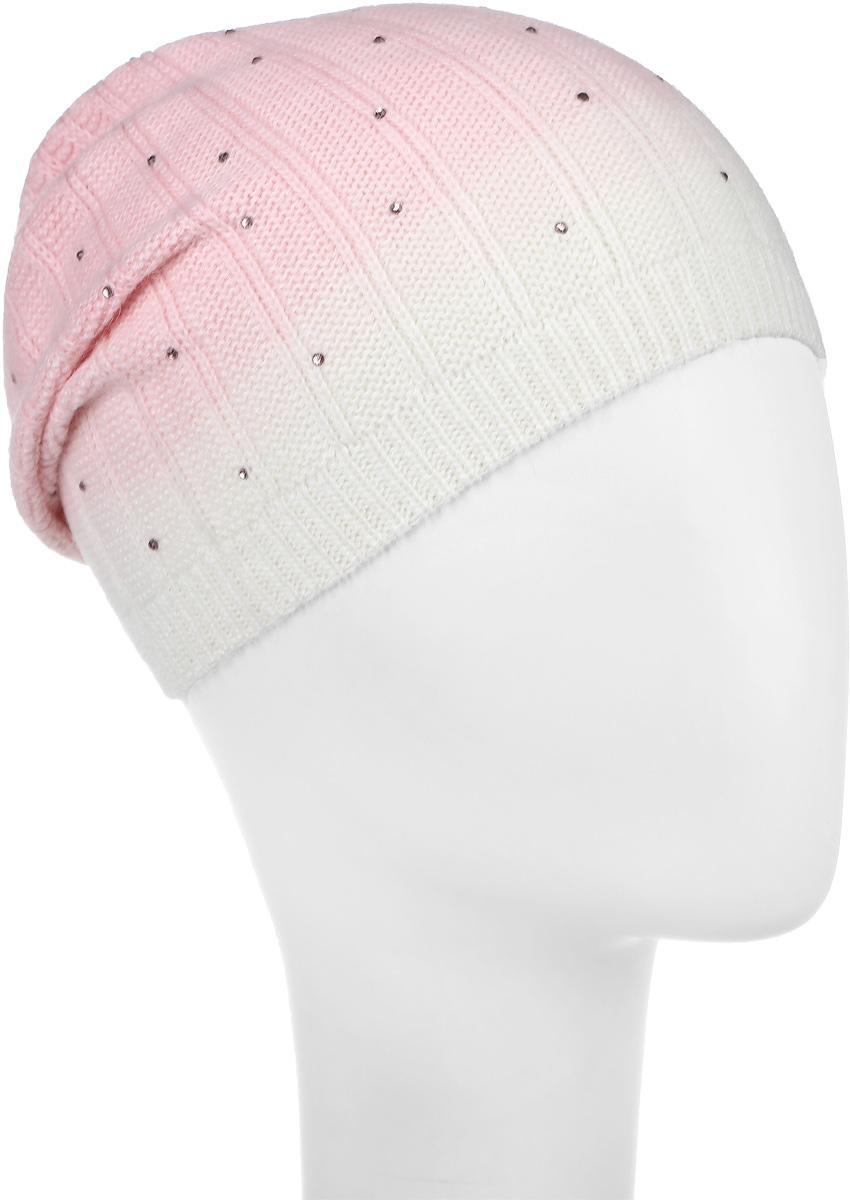 21601GMC7306Шапка для девочки Gulliver выполнена из вискозы с добавлением шерсти, нейлона и ангоры. Модель декорирована стразами. Уважаемые клиенты! Размер, доступный для заказа, является обхватом головы.