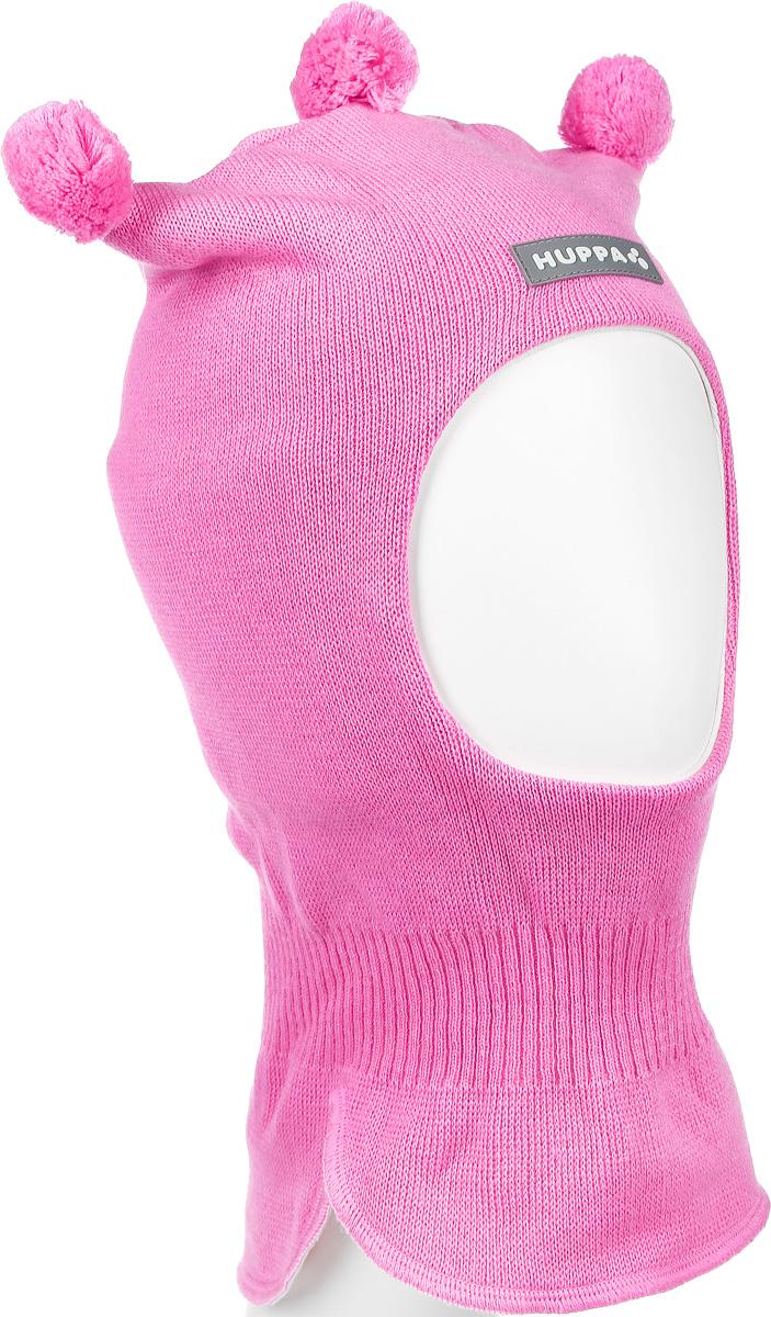 85070000-60013Теплая шапка-шлем Huppa Coco выполнена из мериносовой шерсти с добавлением акрила, подкладка выполнена из натурального хлопка. Изделие оснащено мембраной для защиты ушей от холода. Модель декорирована тремя небольшими помпонами. Шейная часть изделия связана резинкой. Уважаемые клиенты! Обращаем ваше внимание на тот факт, что размер, доступный для заказа, является обхватом головы.