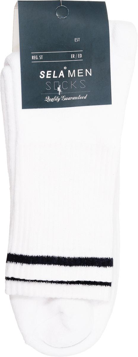 SOb-254/018-7101Удобные мужские теплые носки Sela, изготовленные из высококачественного материала. Благодаря содержанию мягкого хлопка в составе, кожа сможет дышать, а эластан позволяет носкам легко тянуться, что делает их комфортными в носке. Паголенок изготовлен из эластичной трикотажной резинки и оформлен контрастной полосой. Уважаемые клиенты! Размер, доступный для заказа, является длиной стопы.