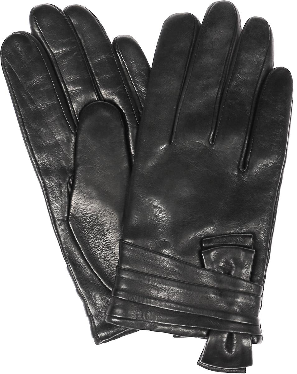 Перчатки11_VALENTA/BLЖенские перчатки Dali Exclusive не только защитят ваши руки, но и станут великолепным украшением. Перчатки выполнены из натуральной кожи, а подкладка - из высококачественной шерсти. Модель оформлена декоративным бантом.