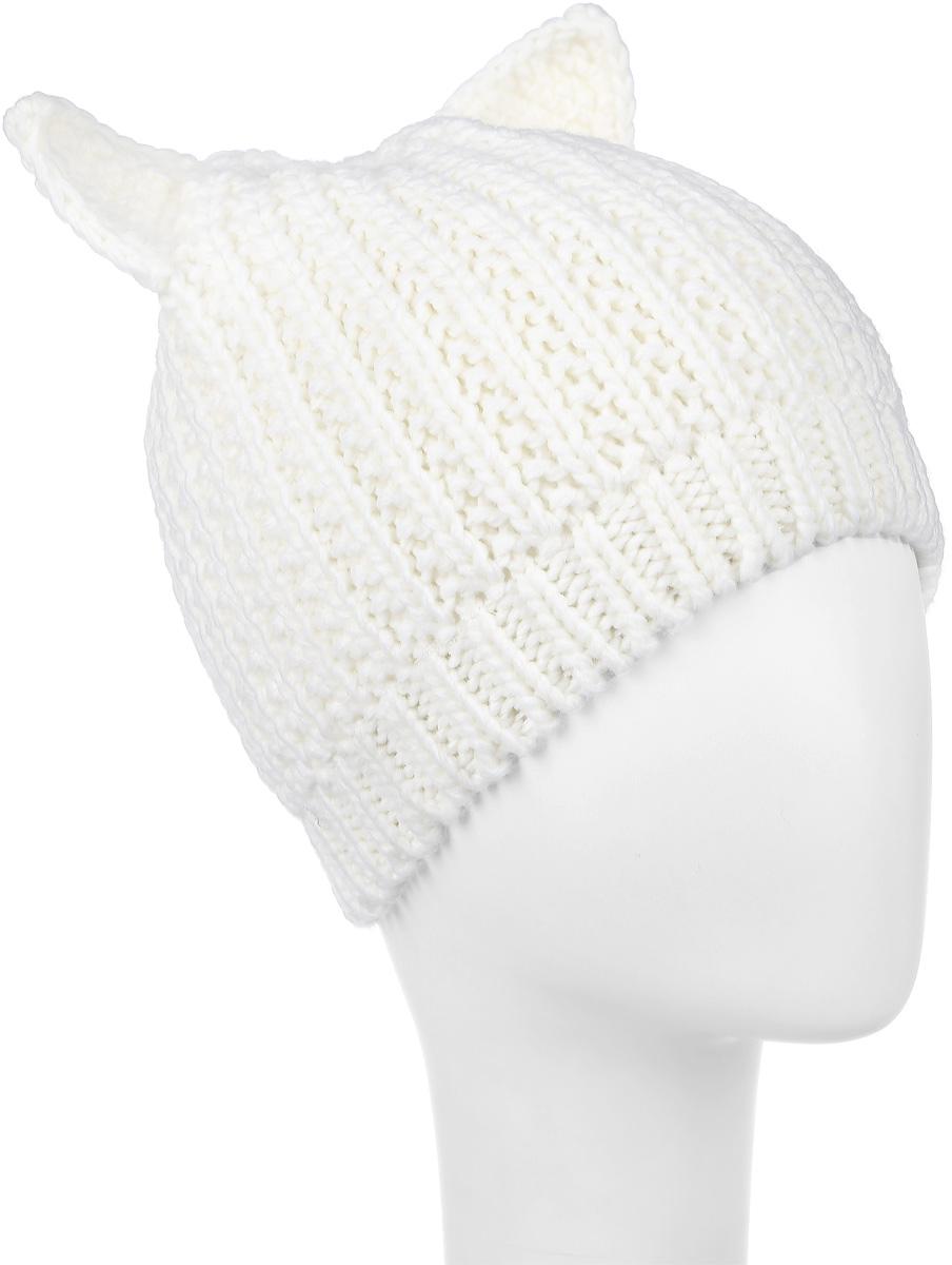 Шапка детская216BBGX73021400Стильная вязаная шапка для девочки Button Blue идеально подойдет для прогулок в прохладное время года. Изготовленная из акрила, она обладает хорошими дышащими свойствами и хорошо удерживает тепло. Шапка с ушками сбоку дополнена небольшой металлической пластиной с названием бренда. Понизу проходит широкая вязаная резинка. Такая шапка станет модным и стильным предметом детского гардероба. Она улучшит настроение даже в хмурые прохладные дни! Уважаемые клиенты! Размер, доступный для заказа, является обхватом головы ребенка.