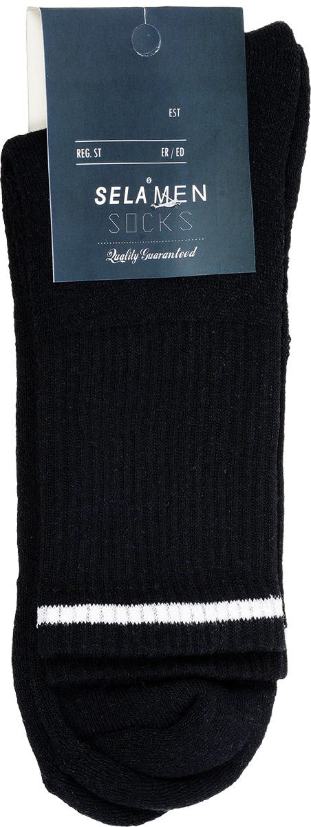 НоскиSOb-254/018-7101Удобные мужские теплые носки Sela, изготовленные из высококачественного материала. Благодаря содержанию мягкого хлопка в составе, кожа сможет дышать, а эластан позволяет носкам легко тянуться, что делает их комфортными в носке. Паголенок изготовлен из эластичной трикотажной резинки и оформлен контрастной полосой. Уважаемые клиенты! Размер, доступный для заказа, является длиной стопы.