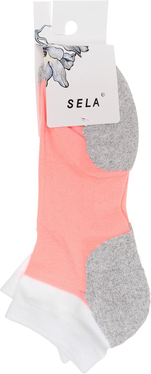 НоскиSOb-154/051-7101Удобные женские носки Sela, изготовленные из высококачественного комбинированного материала. Благодаря содержанию мягкого хлопка в составе, кожа сможет дышать, а эластан позволяет носкам легко тянуться, что делает их комфортными в носке. Эластичная резинка плотно облегает ногу, не сдавливая ее, обеспечивая комфорт и удобство. Носки дополнены усиленными пяткой и мысом. Уважаемые клиенты! Размер, доступный для заказа, является длиной стопы.