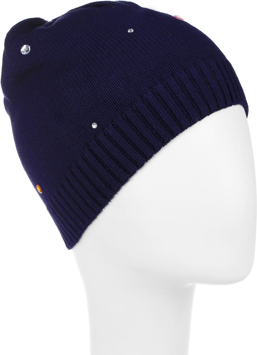 Шапка детская362025Уютная шапочка для девочки PlayToday выполнена из хлопка с добавлением нейлона и эластана. Украшена модель сверкающими стразами. Уважаемые клиенты! Размер, доступный для заказа, является обхватом головы.