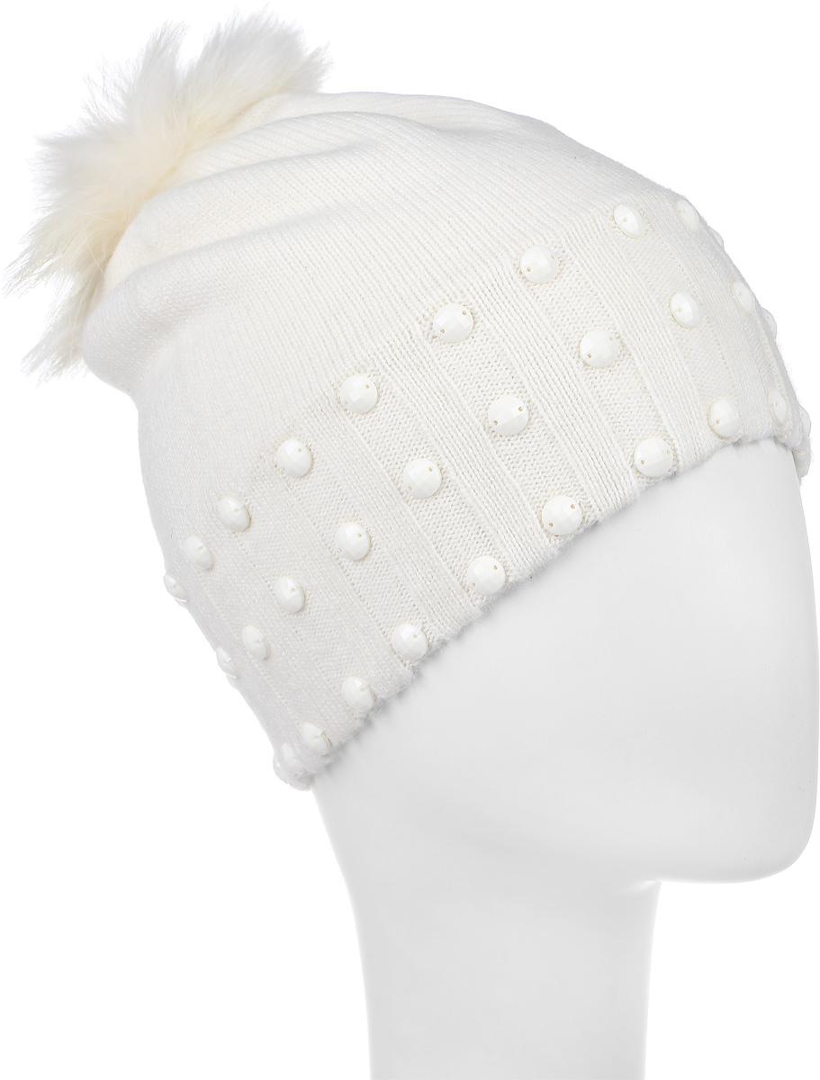Шапка детская21601GMC7307Шапка для девочки Gulliver выполнена из вискозы с добавлением шерсти, нейлона и ангоры. Шапка дополнена пушистым помпоном на макушке и декоративными элементами. Уважаемые клиенты! Размер, доступный для заказа, является обхватом головы.