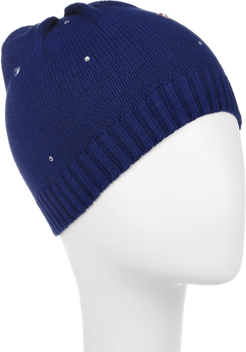 Шапка детская368040Уютная шапочка для девочки PlayToday Baby выполнена из хлопка с добавлением акрила. Украшена модель россыпью сверкающих стразов. Уважаемые клиенты! Размер, доступный для заказа, является обхватом головы.