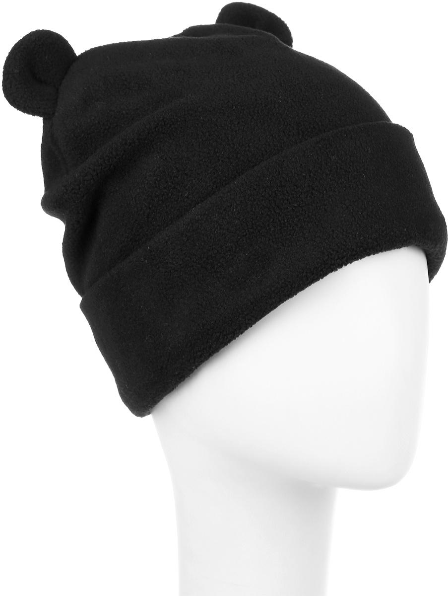Шапка детская216BBGA73010800Стильная шапка для девочки Button Blue выполнена из 100% полиэстера. Шапка с отворотом декорирована ушками. Уважаемые клиенты! Размер, доступный для заказа, является обхватом головы ребенка.