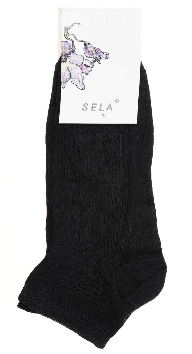НоскиSOb-154/047-7101Удобные женские носки Sela, изготовленные из высококачественного материала. Благодаря содержанию мягкого хлопка в составе, кожа сможет дышать, а эластан позволяет носкам легко тянуться, что делает их комфортными в носке. Эластичная резинка плотно облегает ногу, не сдавливая ее, обеспечивая комфорт и удобство. Уважаемые клиенты! Размер, доступный для заказа, является длиной стопы.
