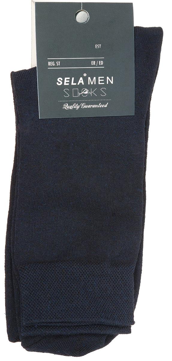 SOb-254/017-7101Удобные мужские носки Sela, изготовленные из высококачественного материала. Благодаря содержанию мягкого хлопка в составе, кожа сможет дышать, а эластан позволяет носкам легко тянуться, что делает их комфортными в носке. Эластичная резинка на стандартном паголенке плотно облегает ногу, не сдавливая ее, обеспечивая комфорт и удобство. Уважаемые клиенты! Размер, доступный для заказа, является длиной стопы.
