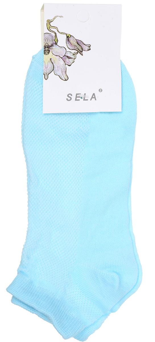 SOb-154/044-7101Удобные женские носки Sela, изготовленные из высококачественного материала. Благодаря содержанию мягкого хлопка в составе, кожа сможет дышать, а эластан позволяет носкам легко тянуться, что делает их комфортными в носке. Эластичная резинка плотно облегает ногу, не сдавливая ее, обеспечивая комфорт и удобство. Верхняя сторона носков оформлена небольшой перфорацией. Уважаемые клиенты! Размер, доступный для заказа, является длиной стопы.