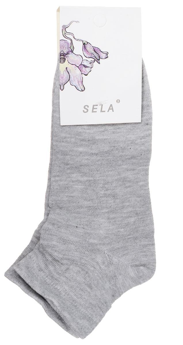 SOb-154/047-7101Удобные женские носки Sela, изготовленные из высококачественного материала. Благодаря содержанию мягкого хлопка в составе, кожа сможет дышать, а эластан позволяет носкам легко тянуться, что делает их комфортными в носке. Эластичная резинка плотно облегает ногу, не сдавливая ее, обеспечивая комфорт и удобство. Уважаемые клиенты! Размер, доступный для заказа, является длиной стопы.