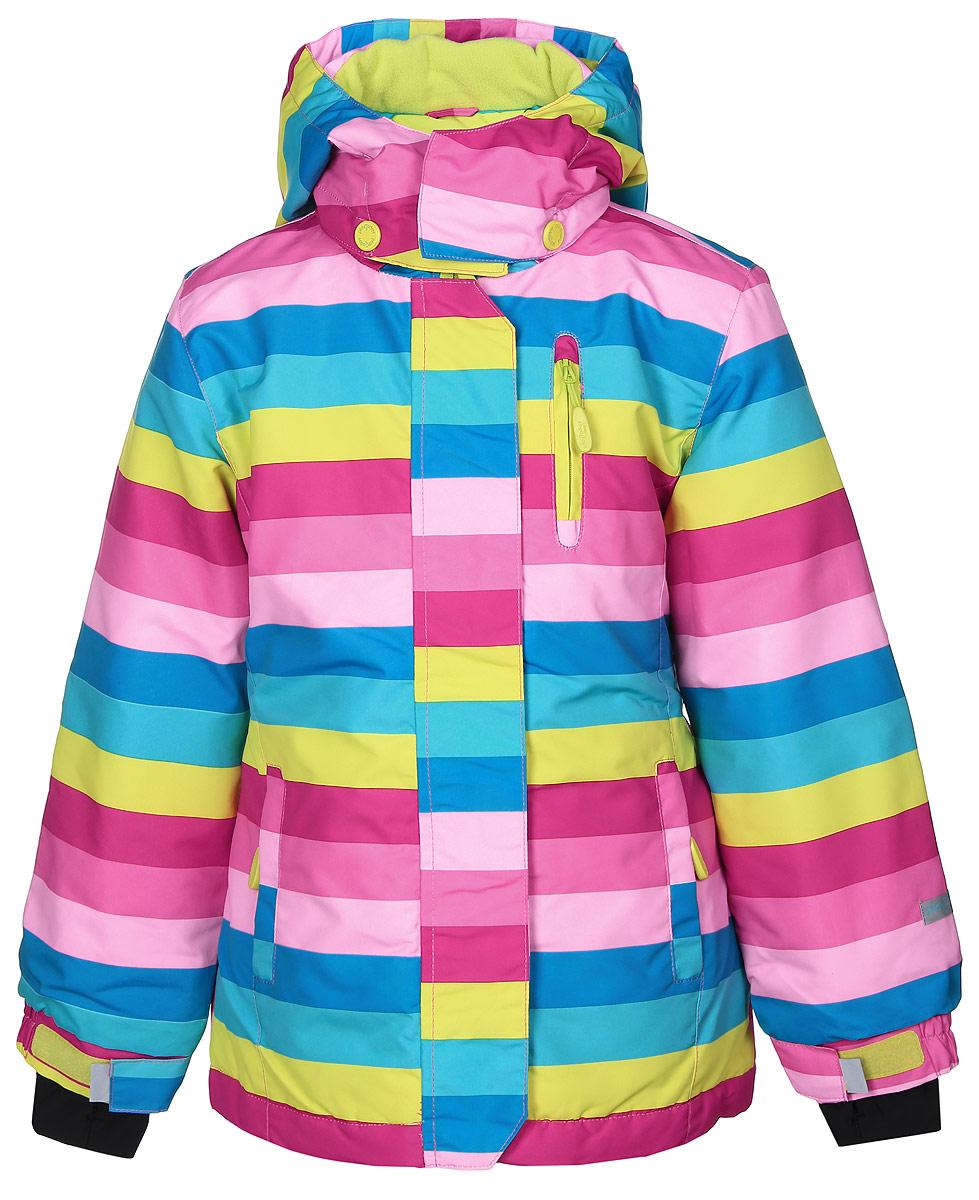 Куртка369002Стильная куртка PlayToday из непромокаемой плащевки и с наполнителем из качественного полиэстера (150 г/м2). Модель застегивается на молнию с защитой подбородка, также есть ветрозащитная планка на липучках. С внутренней стороны изготовлена уютная флисовая подкладка. Капюшон крепиться к куртке на кнопки, а на воротнике застегивается на липучки. Спереди изделие оформлено тремя функциональными карманами на молнии. Внутри есть специальная ветрозащитная юбочка, застегнув которую ваш ребенок будет защищен от дождя и ветра. На рукавах предусмотрены трикотажные манжеты с отверстием под палец. Сзади на спинке в области талии вшита эластичная резинка.