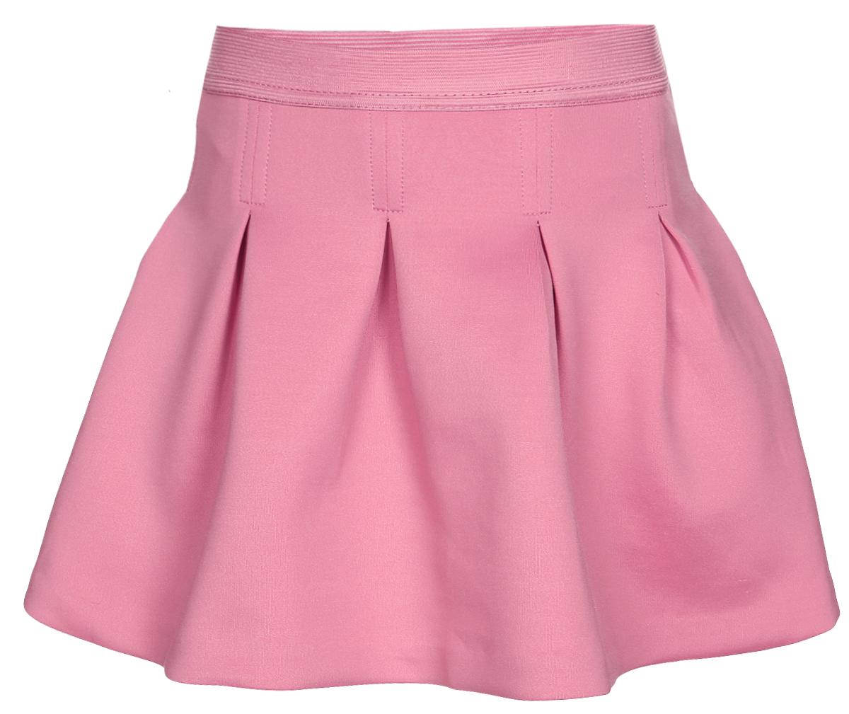 ЮбкаSK-518/059-7110Короткая юбка-клеш для девочки Sela выполнена из плотного эластичного полиэстера. Юбка дополнена широкой эластичной резинкой на поясе и оснащена подъюбником из хлопка. Модель оформлена декоративными встречными складками.