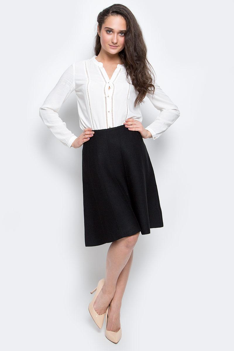 SKsw-118/855-6445Стильная юбка Sela Casual изготовлена из полиэстера с добавлением нейлона, акрила и шерсти. Модель-миди имеет на поясе эластичную резинку и оформлена объемной вертикальной прострочкой.